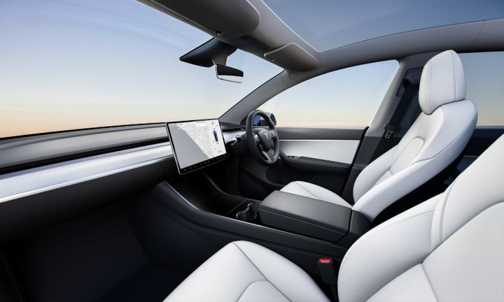 The vehicle will be used as a squad car assigned to the Broken Arrow, Oklahoma, Police Department's Traffic Unit. - Photo: Tesla