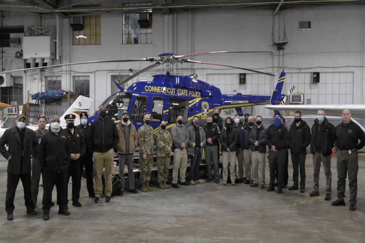 The teams ran scenarios at Hartford-Brainard Airport where they tested the police department's ability to locate a rogue drone as well as its operator by using law enforcement operated drones to find them. - Photo: TSA