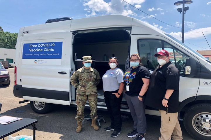 Mobile Wellness Units – purchased with COVID relief funding – are being delivered to all nine of Oklahoma's Public Health Districts. - Photo:Oklahoma State Department of Health