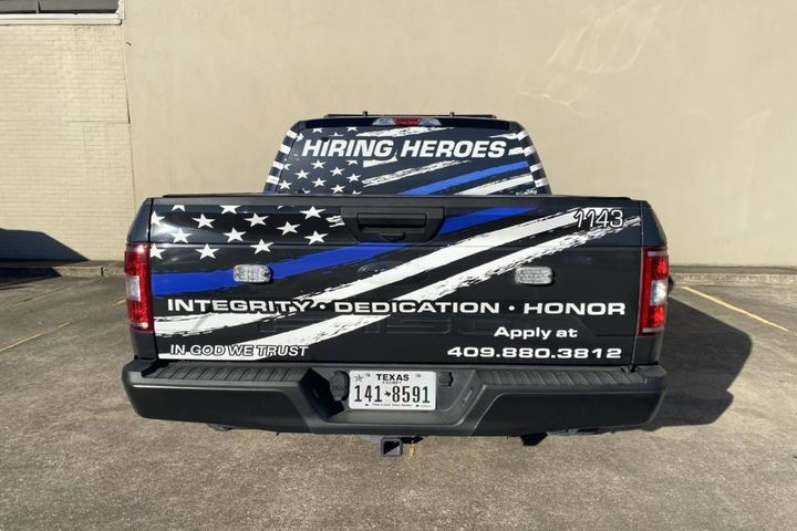 The recruitment wraps have resulted in an increase in the number of contacts due to the information provided on the wraps. - Photo:Beaumont, Texas, Police Department