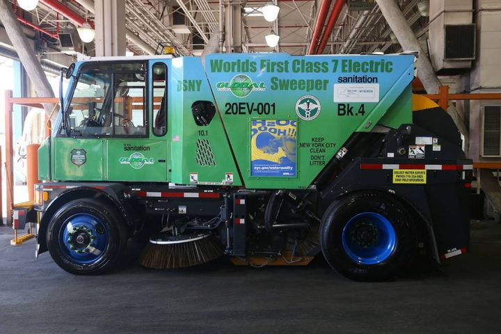 DSNY has approximately 450 traditional street sweepers in use across the five boroughs, including 27 hybrid-electric units. - Photo: DSNY