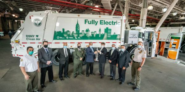 Pictured left to right are DSNY Superintendent Anthony Donofrio; DSNY Deputy Director Michael...