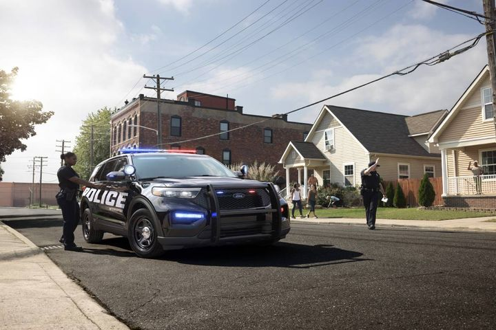 A Ford Police Interceptor vehicle. - Photo: Ford