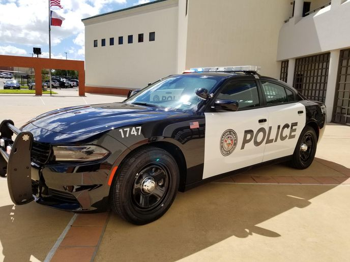 Laredo (Texas) Police Department's Chargers have the Mobileye collision avoidance technology installed to boost officer safety. - Photo: Laredo PD