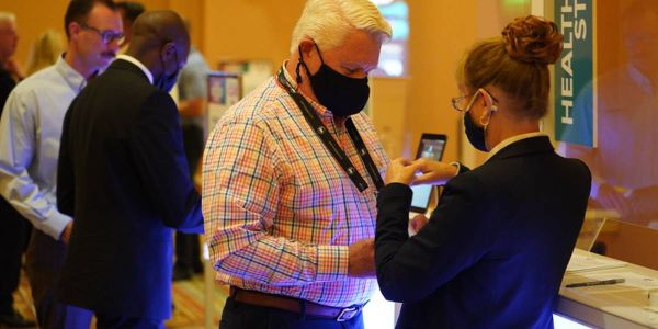 At a previous Bobitevent (CAR Conference), attendees were encouraged to wear masks and use...