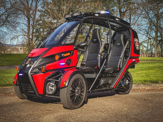 The City of Encinitas is also testing a Rapid Response vehicle. - Photo: Arcimoto