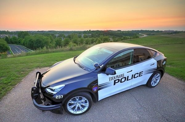 Eden Prairie Police Department's Model Y will betested for 100,000 miles and continually evaluated for overall performance. - Photo: Eden Prairie Police Department