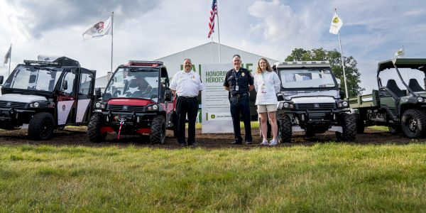 John Deere donated three Special Application Vehicles to government agencies.