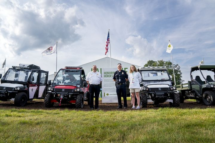 John Deere donated three Special Application Vehicles to government agencies. - Photo: Deere