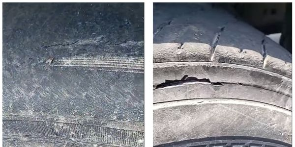 Mount Vernon Mayor Shawyn Patterson-Howard showed the state of refuse truck tires in a Facebook...