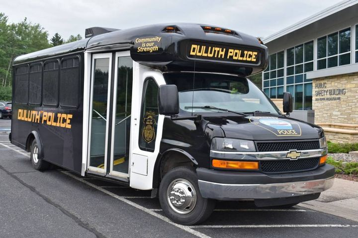 The Duluth Police Department's goal with the bus, named CODE4, is to provide those in the community an opportunity to meet our officers in a 'tasteful' way. - Photo: Duluth Police Department