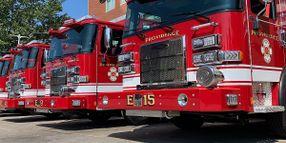 Rhode Island Fire Department Unveils 6 New Fire Trucks