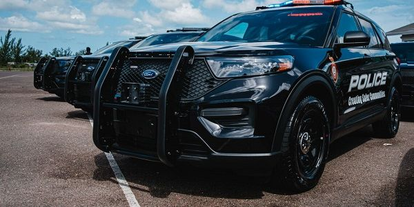 Shown here is one of the 20 Ford Police Interceptors delivered to theRoyal Bahamas Police Force.