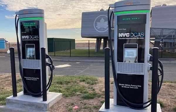 This is the first award out of a total of $1.3 million NYC DCAS could potentially receive fromCon Edison to support 39 of the city's 100 fast chargers. - Photo: NYC DCAS