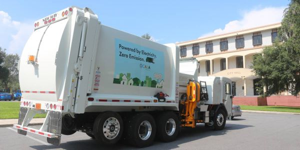 The new City of Ocala, Florida, vehicles consume about $30 of electric energy per route,...