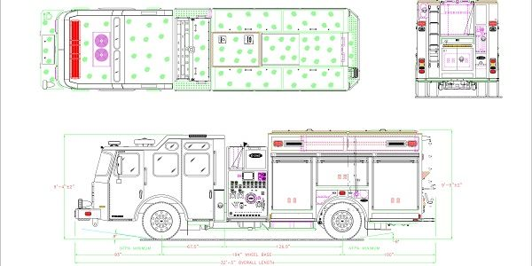 The electric truck is designed in partnership with Emergency One Group LTD and packs 316 kW of...