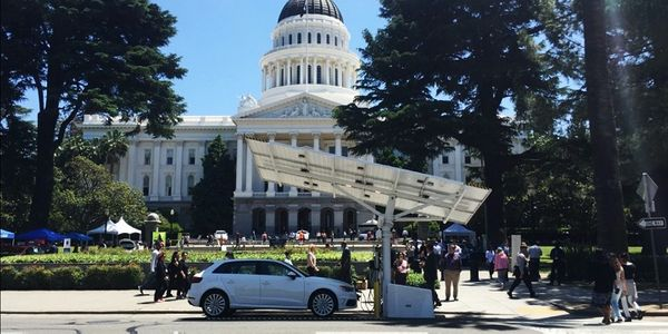 The Beam EV ARCcharging systems will be available for California DMV visitors to charge their...