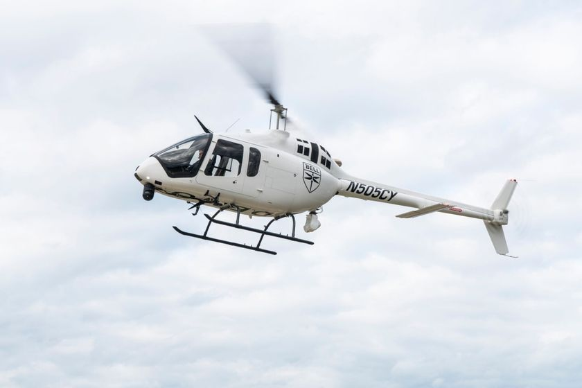 The Bell 505 has speed of 125 knots and useful load of 1,500 lbs.