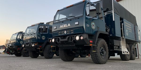Acela Monterra's specialized flood rescue variants are capable of fording 50 inches of water...
