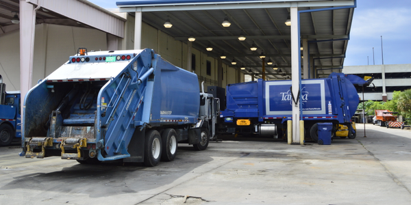 File photo of Tampa refuse trucks by Thi Dao