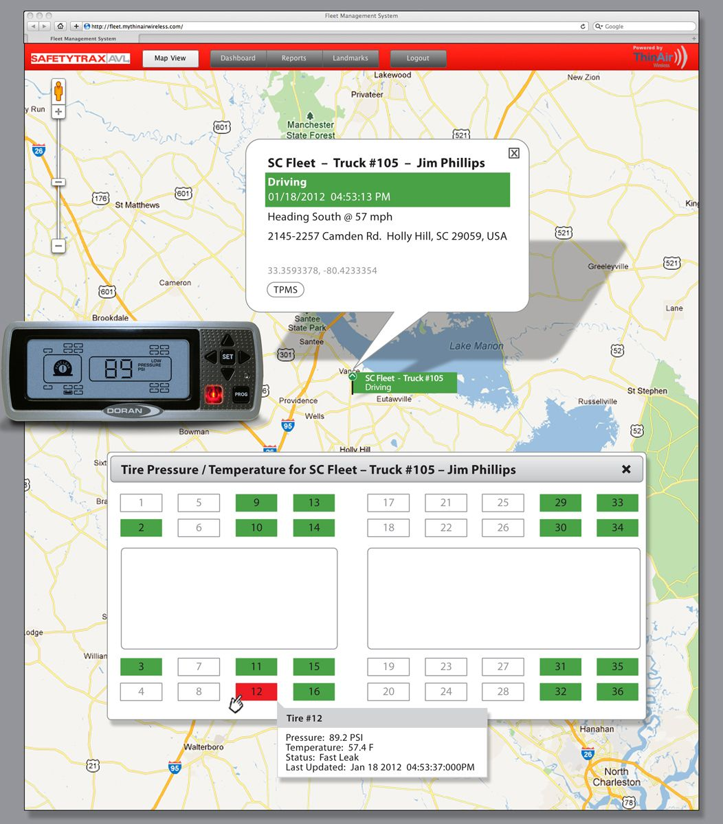Doran and Safetytrax Integration Provides Website to Help Fleets Reduce Tire Repair and Maintenance Costs