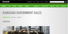 Kawasaki Launches Government, Fleet Sales Section Online