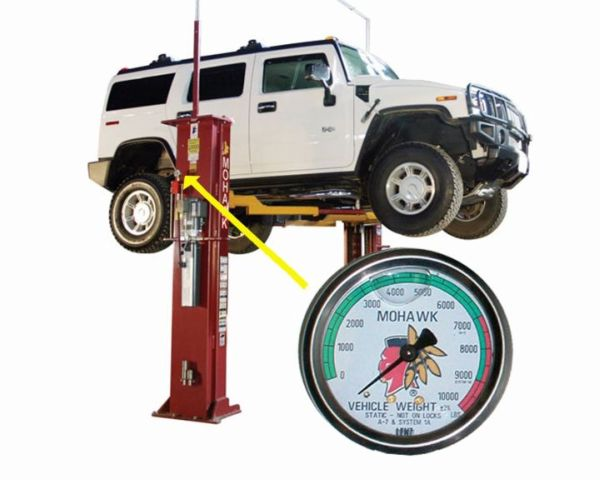 Mohawk Lift's Weight Gauge Acts as Diagnostic Tool