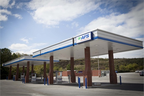 The station shown above is the new AFS CNG fueling site. Photo courtesy AFS.