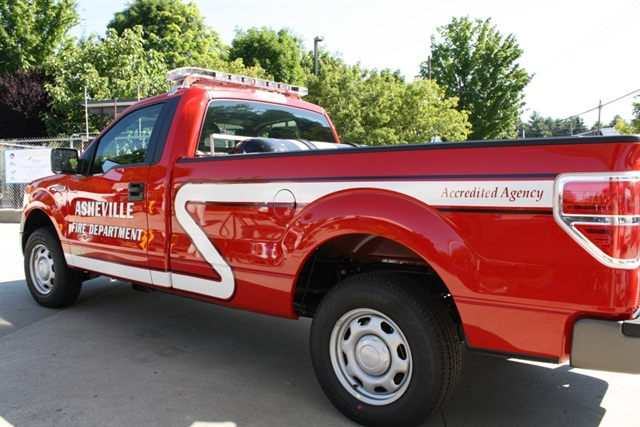 One of the City's fire department trucks fueled by CNG.