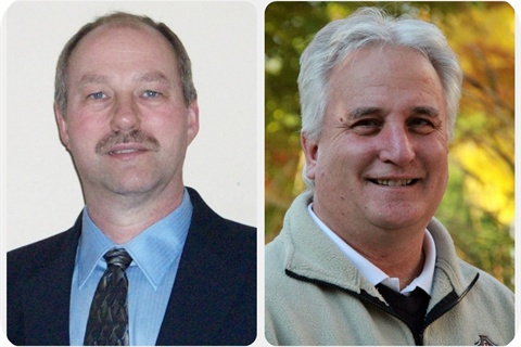 (Left) Kevin Schlangen, CPFP, Dakota County, Minn. (Right) Clayton Reynolds, CPFP, City of Tualatin, Ore. Photos courtesy APWA.