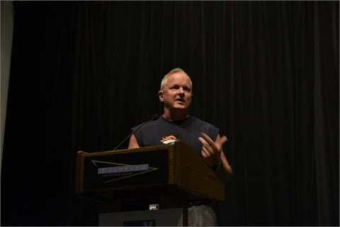 Bob Stanton gives the opening keynote address at GFX 2012.
