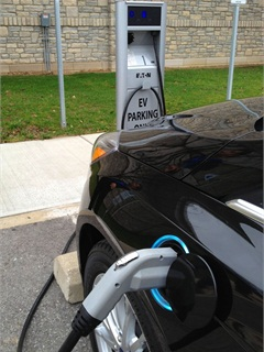 Residents can charge their electric vehicles at one of the City of Dublin's two new Level 2 charging stations.