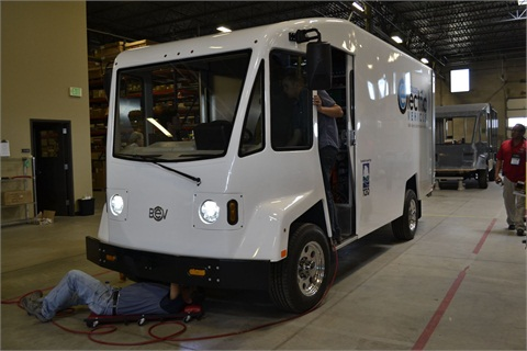 This Boulder EV delivery van will be delivered to the City of San Antonio, Texas, in late June.