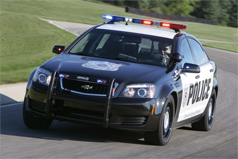 The 2012-MY Chevrolet Caprice PPV. Photo courtesy General Motors.