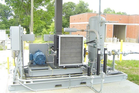 Total cost of the slow-fill CNG fueling station is $200,000. Photo courtesy of the City of Greensboro.