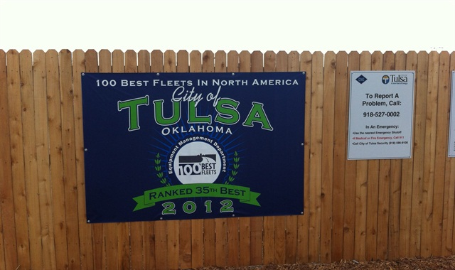 The City of Tulsa was named one of the 100 Best Fleets in 2012.