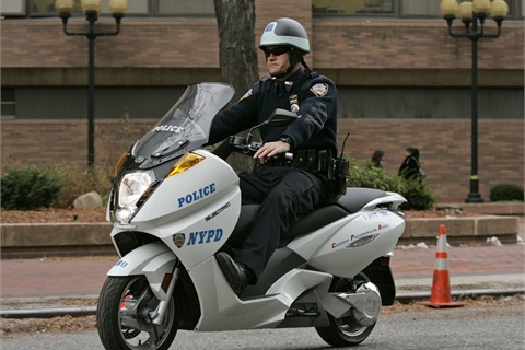 A Vectrix VX-1 model used by NYPD.