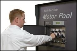 Colorado state fleet drivers have secure, unstaffed access to vehicles day or night. Photo via Agile Access Control.