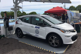 NYC Adds Auto-Braking Vehicles, Solar EV Chargers