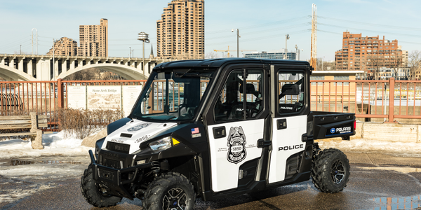 Polaris donated 10 Ranger utility vehicles to the Minneapolis Police Department for use during...