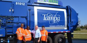City of Tampa, Fla., Receives 5 New CNG Solid Waste Vehicles