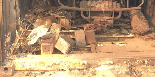 AJohn Deere Gator burned inside a storage box.Photo courtesy of City of Ventura