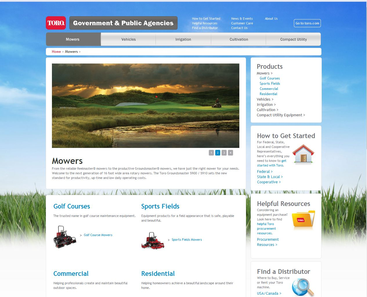 Toro Launches New Website for Government and Public Agencies