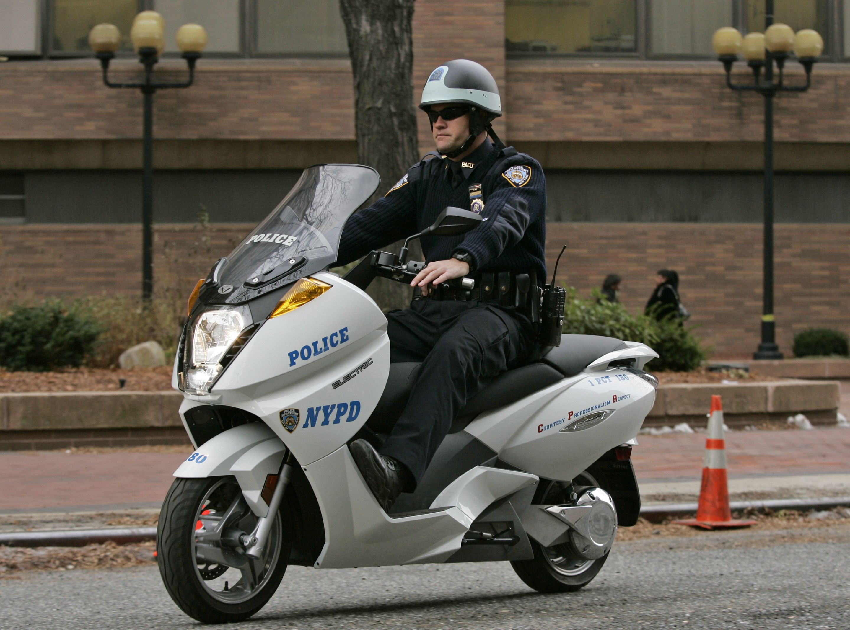 NYPD Using Electric Police Bikes for Patrol at 9/11 Memorial in NYC
