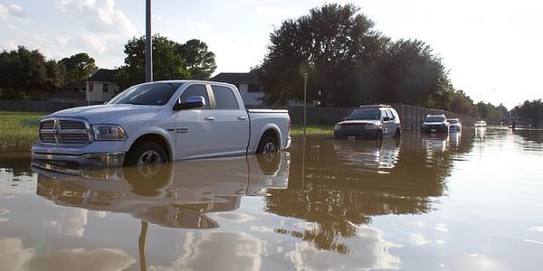 Photo of flooding during Hurricane Harvey via Pixabay