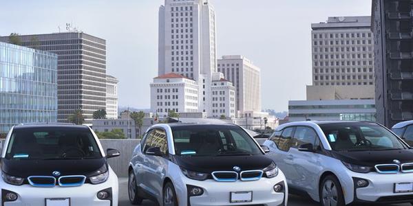 Photo of BMW i3 hatchbacks courtesy of City of Los Angeles