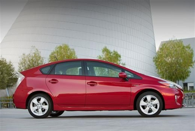 The 2015 Prius gets a combined MPG of 50 and can be used to bring up the average MPG in a fleet. Photo courtesy of Toyota.