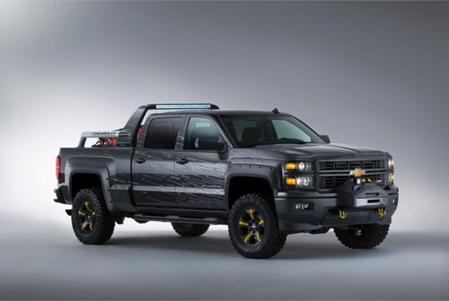 The SEMA Black Ops concept, based on the Chevrolet Silverado Crew Cab 4x4, would be used during emergencies. Photo courtesy of General Motors.