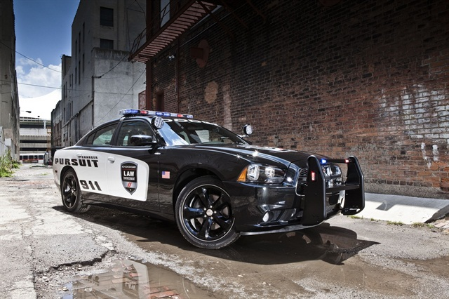 Chrysler is offering AWD for the 2014 Charger Pursuit. Photo courtesy Chrysler.