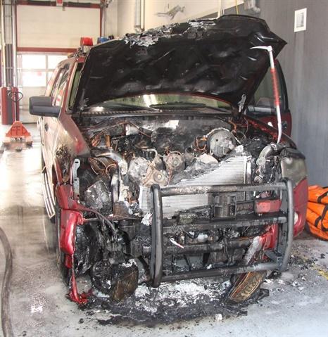 Photo of the backup batallion chief SUV courtesy of Deputy Fire Marshal Kyle Green